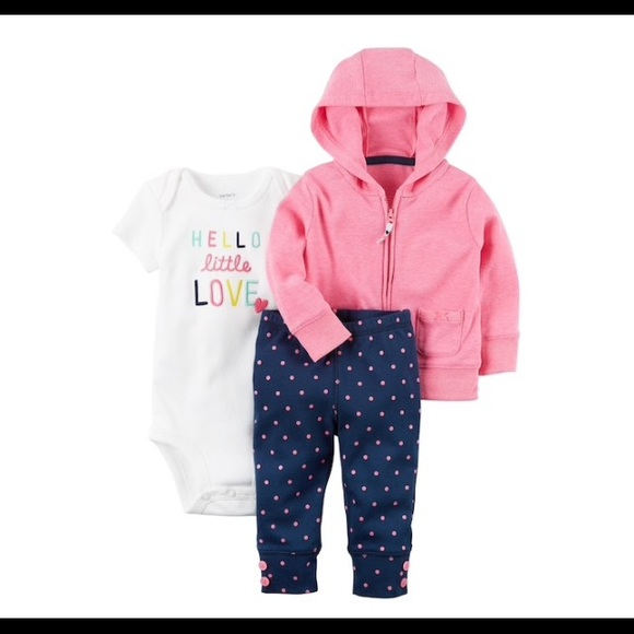 52b85fd34 Carter's Matching Sets | Nwt Carters Hello Little Love Outfit | Poshmark